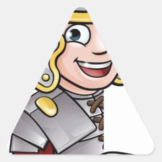 Adesivo Triangular Apontar romano do soldado
