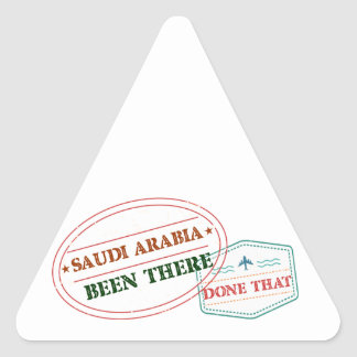 Adesivo Triangular Arábia Saudita feito lá isso
