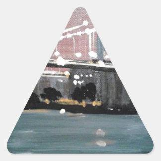Adesivo Triangular Arquitectura da cidade escura