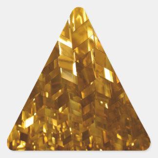 Adesivo Triangular Arte abstracta do teto do ouro