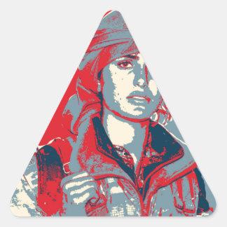 Adesivo Triangular Arte curdo do lutador de YPJ