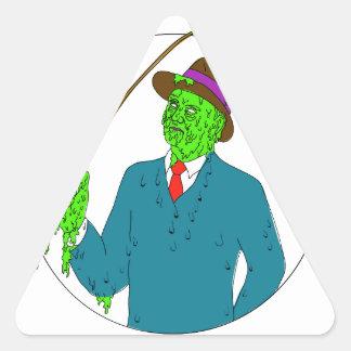 Adesivo Triangular Arte da camada de sujidade do carretel de Rod de