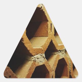 Adesivo Triangular Arte de caminhadas diárias