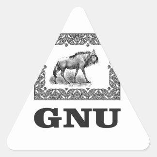 Adesivo Triangular Arte do poder do Gnu
