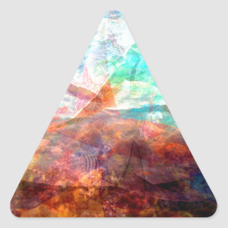Adesivo Triangular Arte subaquática de inspiração bonita da cena