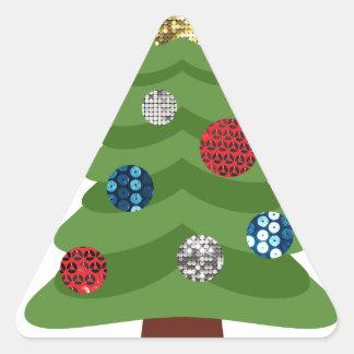 Adesivo Triangular árvore de Natal do emoji