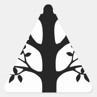 Adesivo Triangular Árvore do coração com raizes