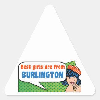 Adesivo Triangular As melhores meninas são de Burlington