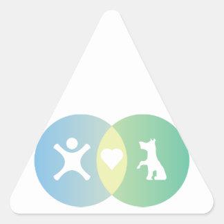 Adesivo Triangular As pessoas do coração perseguem o diagrama de Venn
