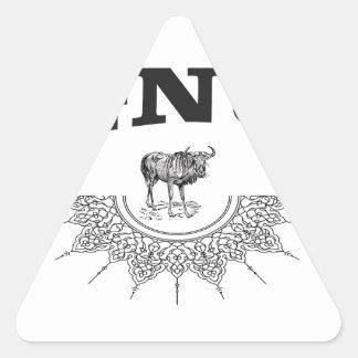 Adesivo Triangular asa do gnu