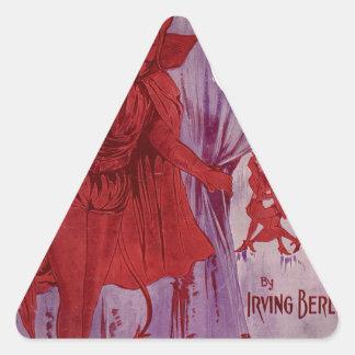 Adesivo Triangular At_the_Devil's_Ball_