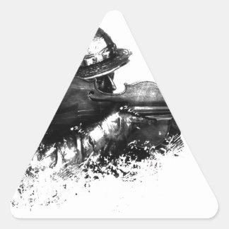 Adesivo Triangular atirador furtivo do violino