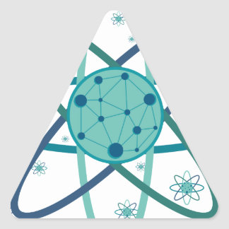 Adesivo Triangular Átomo