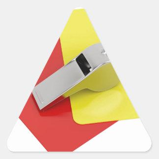 Adesivo Triangular Atributos do árbitro