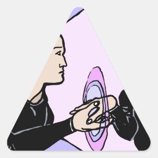 Adesivo Triangular Auto paralelo