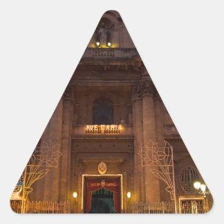 Adesivo Triangular Ave Maria Church em Catania