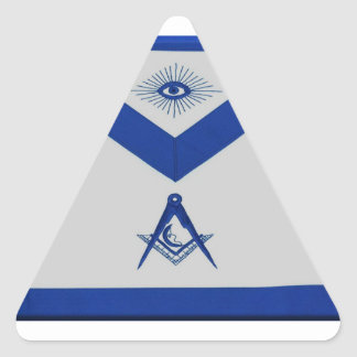 Adesivo Triangular Avental júnior maçónico do diácono