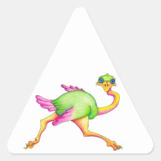 Adesivo Triangular Avestruz rara