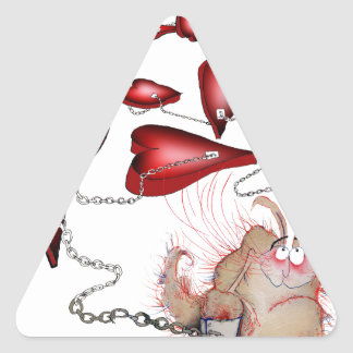 Adesivo Triangular azarado no amor, fernandes tony