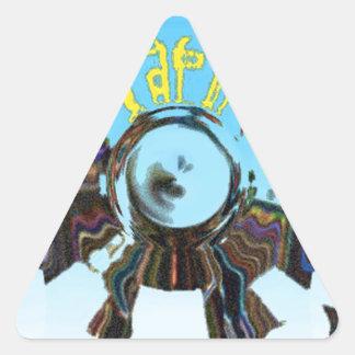 Adesivo Triangular Azul abstrato