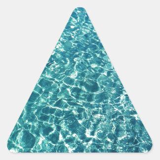 Adesivo Triangular Azul claro da água