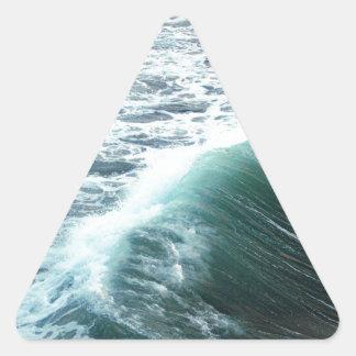 Adesivo Triangular Azul de Oceano Pacífico