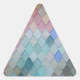 Adesivo Triangular Azulejos de telhado coloridos - PaintingZ