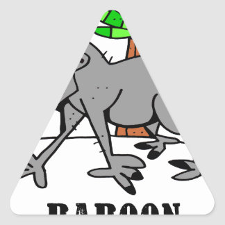 Adesivo Triangular Babuíno por Lorenzo