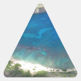 Adesivo Triangular Baía Havaí de Hanauma