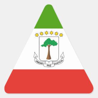 Adesivo Triangular Baixo custo! Bandeira da Guiné Equatorial