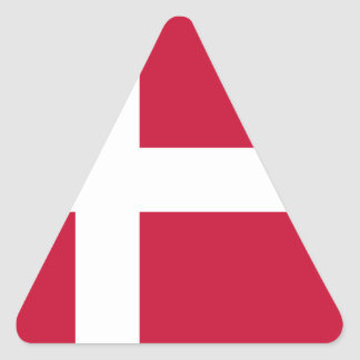 Adesivo Triangular Baixo custo! Bandeira de Dinamarca