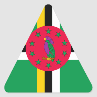 Adesivo Triangular Baixo custo! Bandeira de Dominica