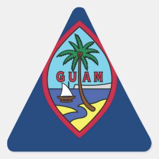 Adesivo Triangular Baixo custo! Bandeira de Guam