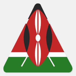 Adesivo Triangular Baixo custo! Bandeira de Kenya