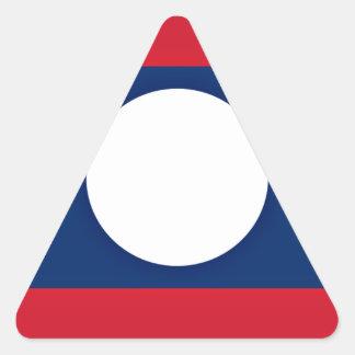 Adesivo Triangular Baixo custo! Bandeira de Laos