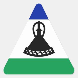 Adesivo Triangular Baixo custo! Bandeira de Lesotho