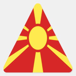 Adesivo Triangular Baixo custo! Bandeira de Macedónia