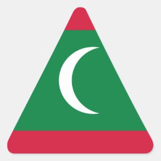 Adesivo Triangular Baixo custo! Bandeira de Maldives
