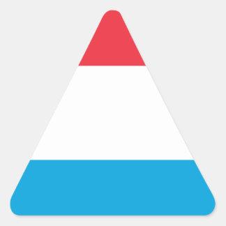 Adesivo Triangular Baixo custo! Luxembourg embandeira