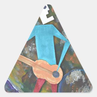 Adesivo Triangular Balançando o cosmos