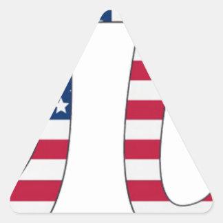 Adesivo Triangular Bandeira americana do dia do Pi, símbolo do pi