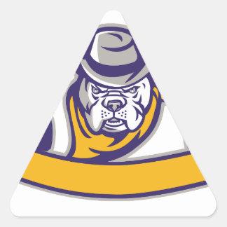 Adesivo Triangular Bandeira da cabeça do vaqueiro do xerife do