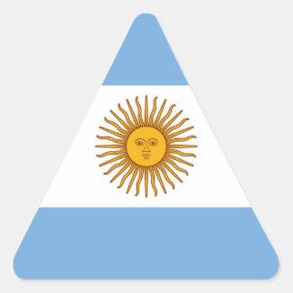 Adesivo Triangular Bandeira de Argentina - bandera de Argentina
