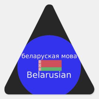 Adesivo Triangular Bandeira de Belarus e design da língua