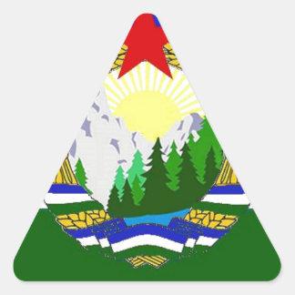 Adesivo Triangular Bandeira de Cascadia socialista