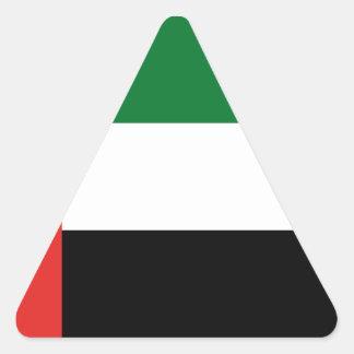 Adesivo Triangular Bandeira de Emiradosarabes