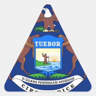 Adesivo Triangular Bandeira de Michigan