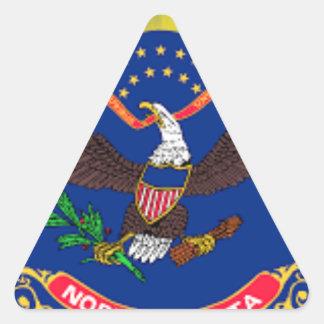 Adesivo Triangular Bandeira de North Dakota