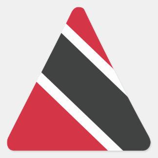 Adesivo Triangular Bandeira de Trinidadtobago