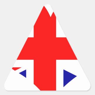 Adesivo Triangular Bandeira do coração de Union Jack